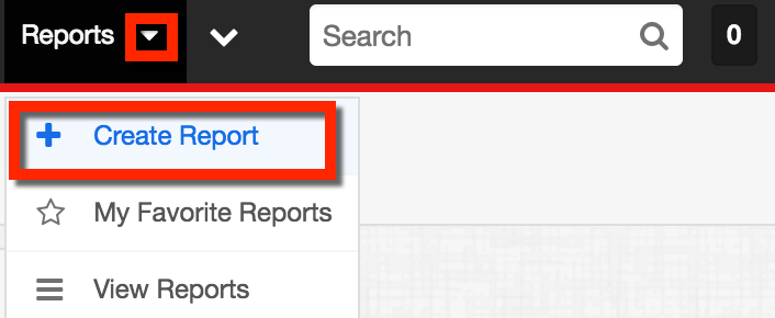 Select Create Report